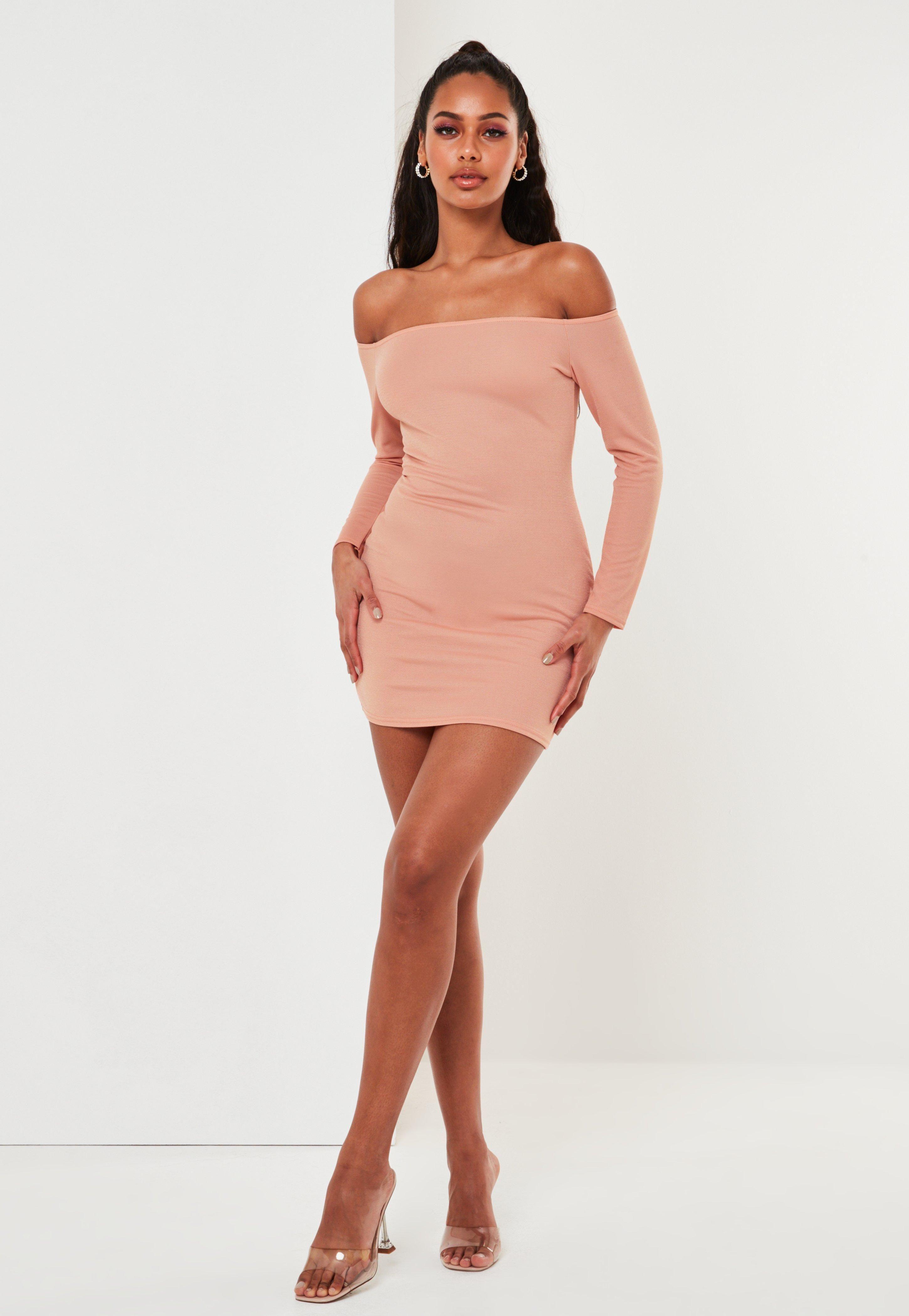 Pink Bardot Long Sleeve Mini Dress Sponsored Long Sponsored Bardot Pink Long Sleeve Dress Trending Dresses Mini Dress [ 4200 x 2900 Pixel ]