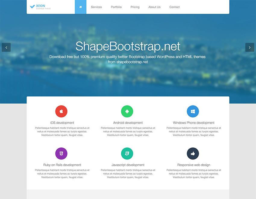 Xeon - Best Onepage Site Template | HTML template | Pinterest