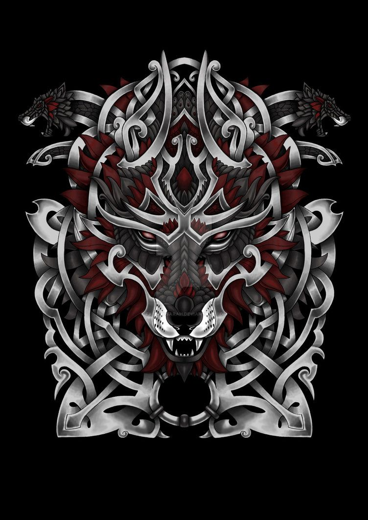 Norse Wolf Tattoo By Fallingsarah Celtic Wolf Tattoo Norse Tattoo Wolf Tattoos