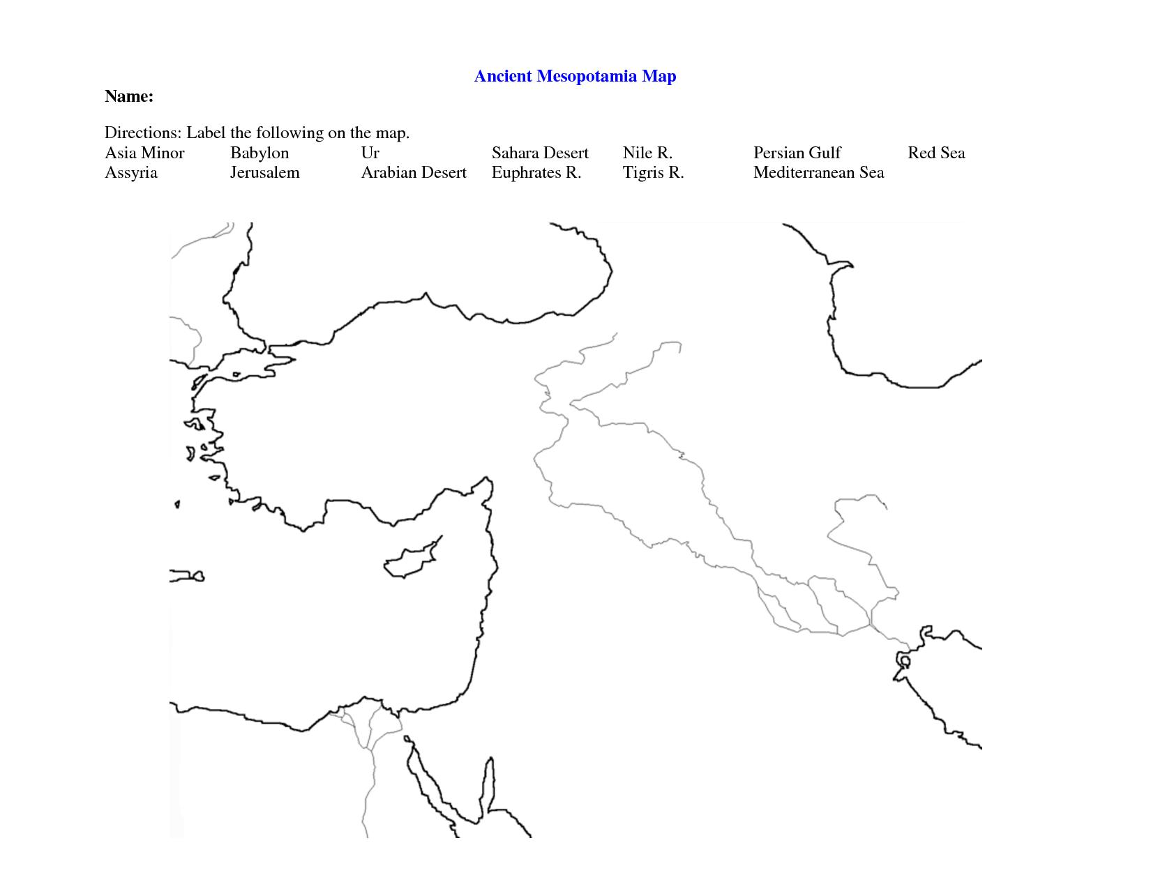 worksheet Different Kinds Of Maps Worksheet fertile crescent map worksheet google search world history 9 search