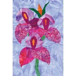 Disa Veitchii Orchid Quilt Pattern Paper Pieced Quilt Patterns Foundation Paper Piecing Patterns Quilt Patterns