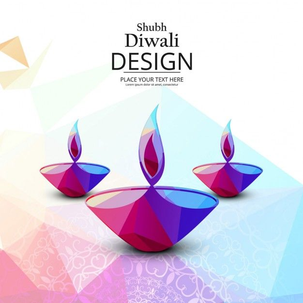 Geometric Background For Diwali Free Vector