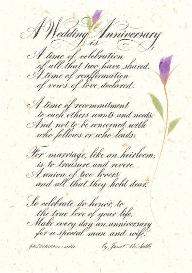 to put at the back of program biblical wedding anniversary wishes wedding anniversary poem