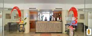 Sala colazione ed area ristorazione esterna dell'Hotel Bel 3 di Baida. (Clicca sulla foto per aprire il tour virtuale)