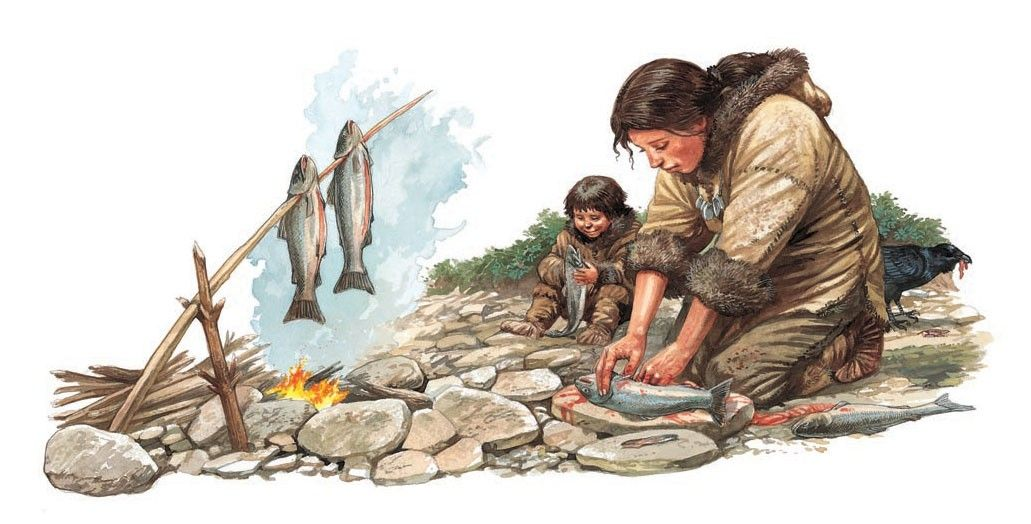 Q Files | Preparing and cooking fish over a campfire ...  Q Files | Prepa...
