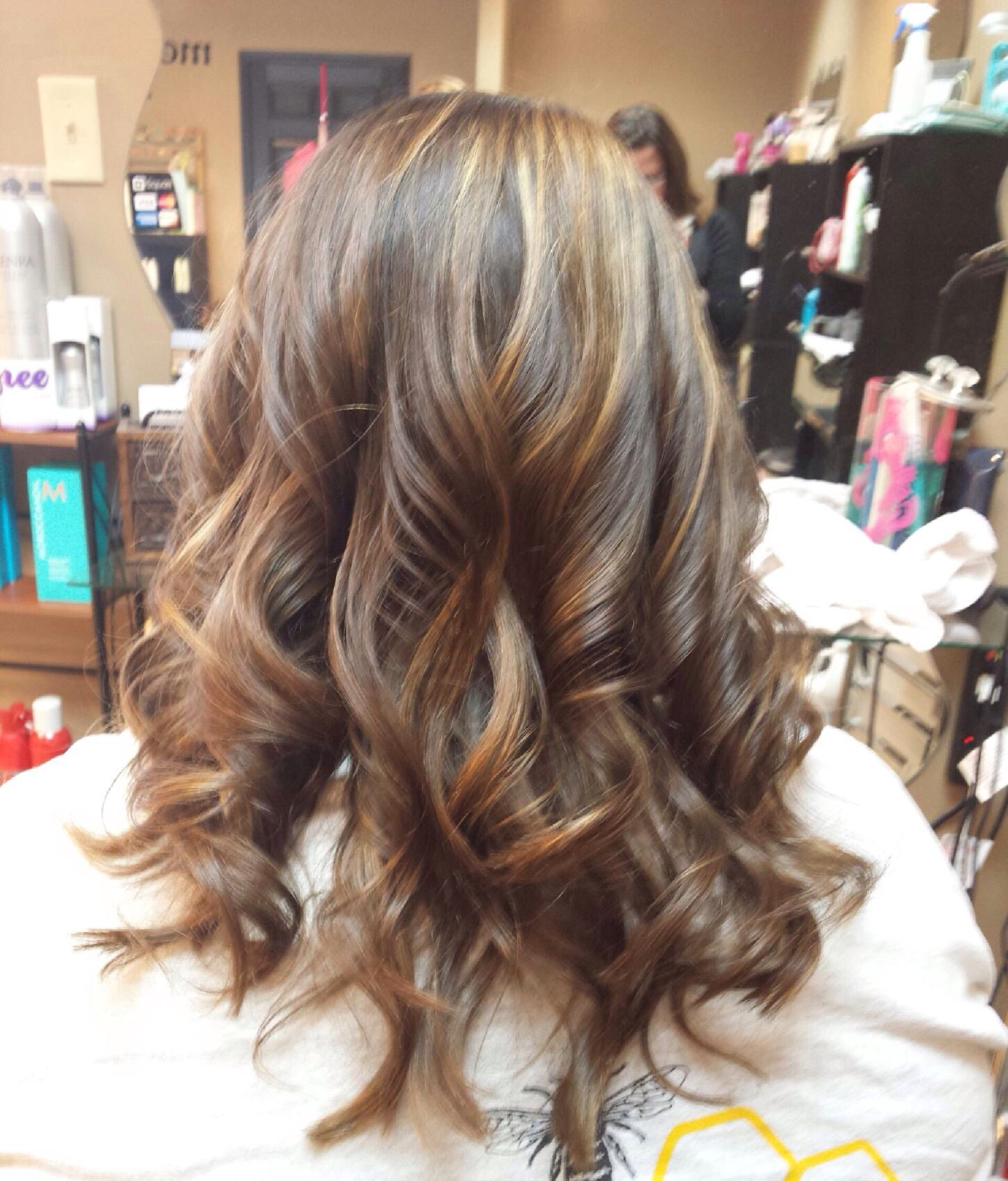 caramel balayage highlights on dark brown hair. Black Bedroom Furniture Sets. Home Design Ideas