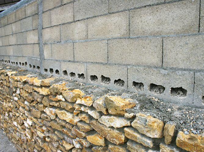 L\u0027habillage des parpaings - Maison  Travaux Kerítések Pinterest - Enduire Un Mur Exterieur En Parpaing