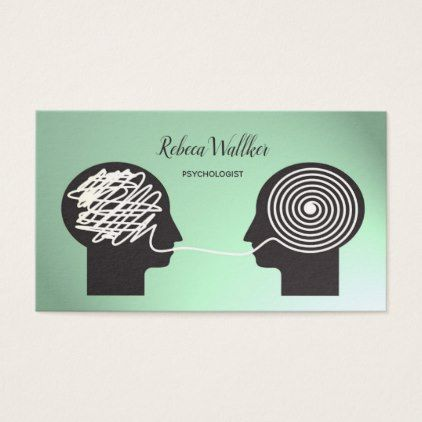 Psychologist Psychiatrist Doctor Private Clinic Business Card Zazzle Com In 2021 Business Cards Creative Psychology Business Card Doctor Business Cards