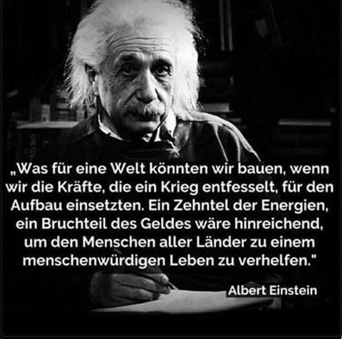 What Kind Of A World Konntenwirbauen If We Einstzten The Forces Unleashed A War For The Building One Tenth Einstein Quotes Einstein Albert Einstein Quotes