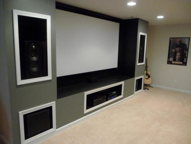 everything trimmed out and all the speakers are in place man cave en 2018 pinterest. Black Bedroom Furniture Sets. Home Design Ideas