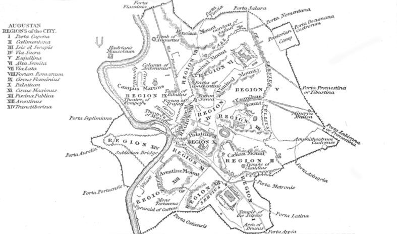 Map Of Ancient Rome During The Time Of Julius Caesar - Map of rome under caesar