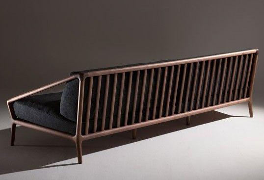 Tremendous Rive Sofa Wood Back Modern Firm Clean Danish Dailytribune Chair Design For Home Dailytribuneorg