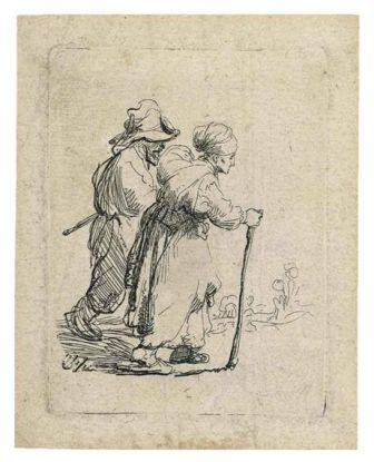 TWO TRAMPS, A MAN AND A WOMAN 1634
