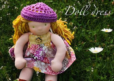 Waldorf doll dress tutorial - adorable site, beautiful characterful dolls