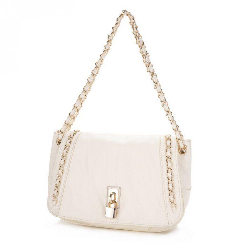 JSR Ladies Chain Flap Shoulder Bag - White Best Bags Wholesale Online