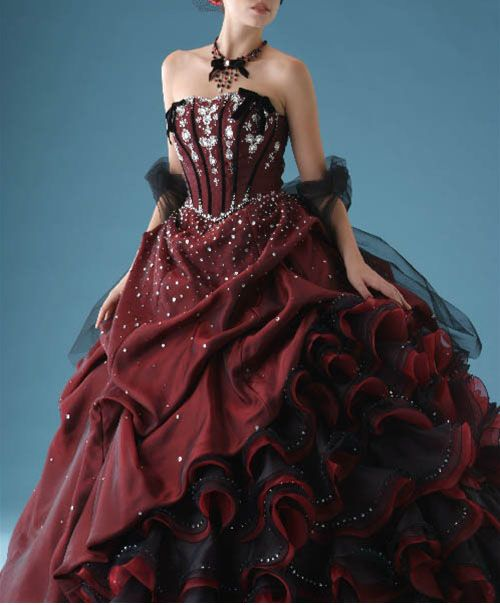 Purple Gothic Wedding Dresses,plus