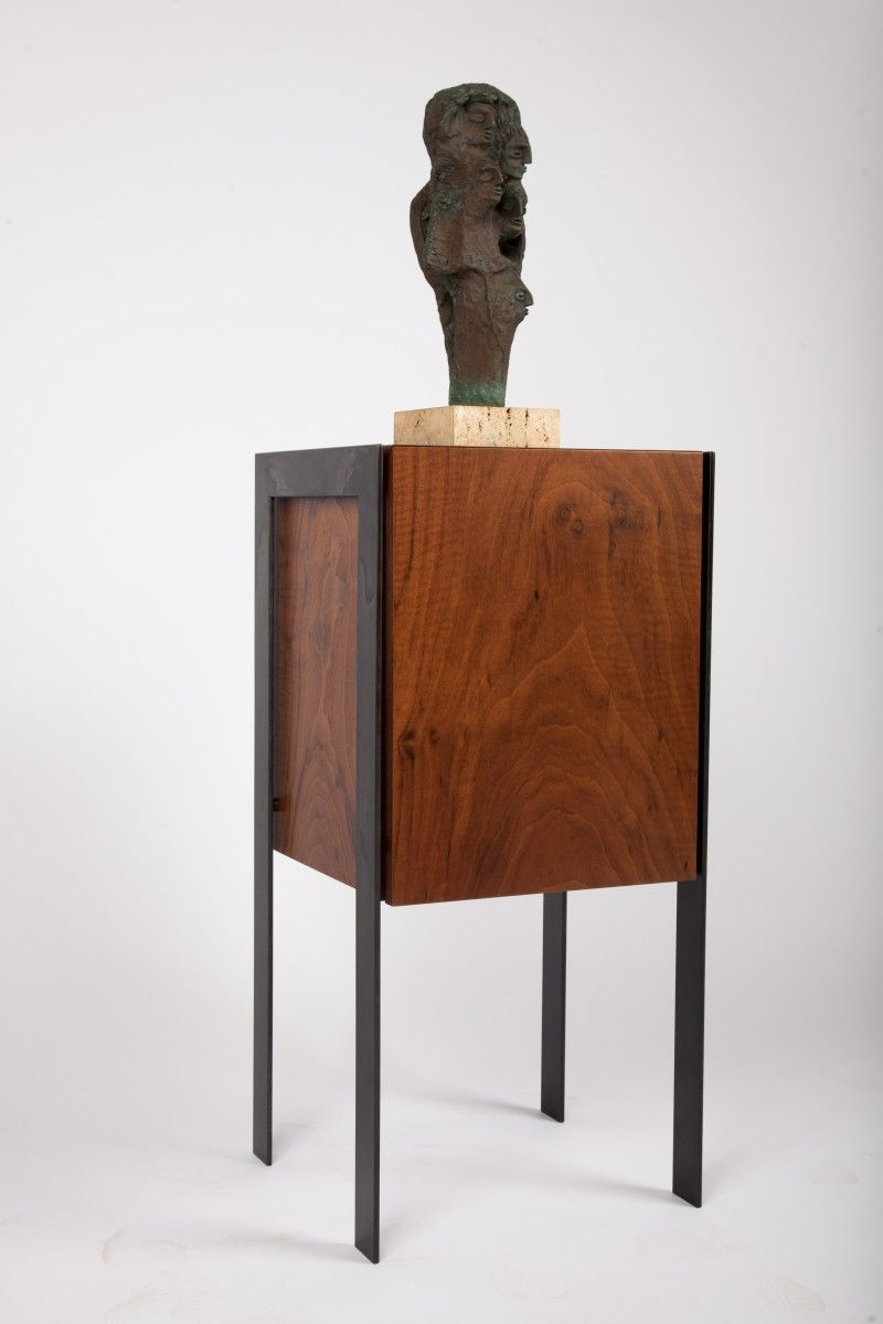 Drum Display Pedestal End Table Sculpture