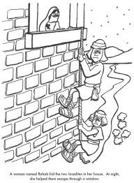 Rahab and the Spies Coloring Page Bible Pinterest Sunday