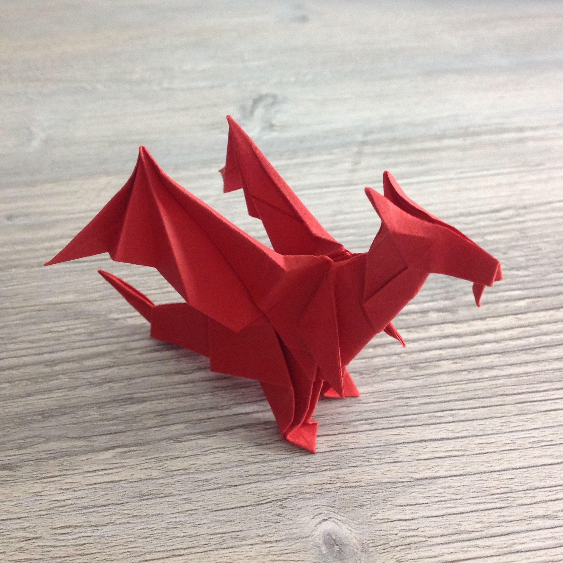 Origami Dragon Design By Jo Nakashima Papierflieger Papier