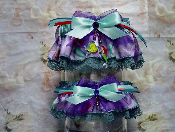 Disney Ariel Under The Sea Wedding Garter Set By Gramminstreasures