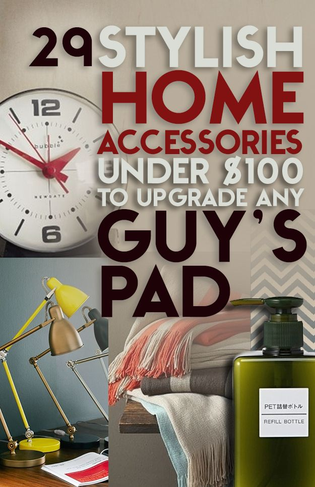Lovely 29 Stylish Home Accessories Under $100 To Upgrade Any Guyu0027s Pad