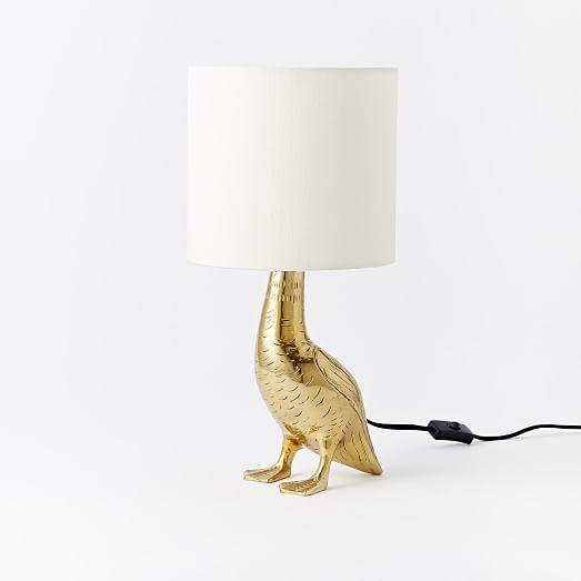 Rachel Kozlowski Mallard Duck Table Lamp In 2020 Table Lamp Gold Table Lamp Animal Lamp