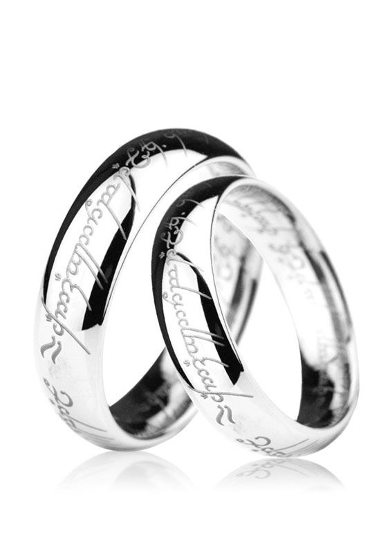 Tungsten Simple Couple Jewelry Rings Polished Silver Dome Promise Wedding Band