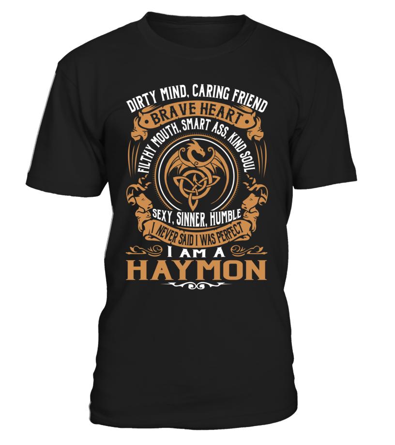 HAYMON Brave Heart Last Name T-Shirt #Haymon