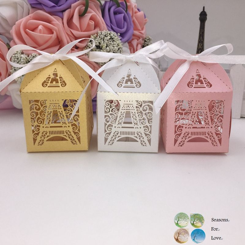 50ps laser cutting Paris Eiffel tower candy chocolate box wedding decoration party supplies wedding favors and gifts baby shower-in Event & Party Supplies from Home & Garden on Aliexpress.com | Alibaba Group
