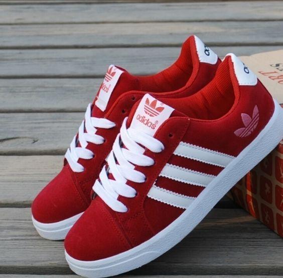 red adidas sneakers | Zapatos adidas, Zapatos adidas mujer ...