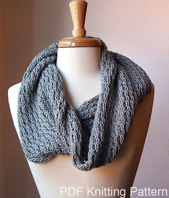 Infinity Circle Scarf Knitting Pattern Snood Loop By Ateliertpk