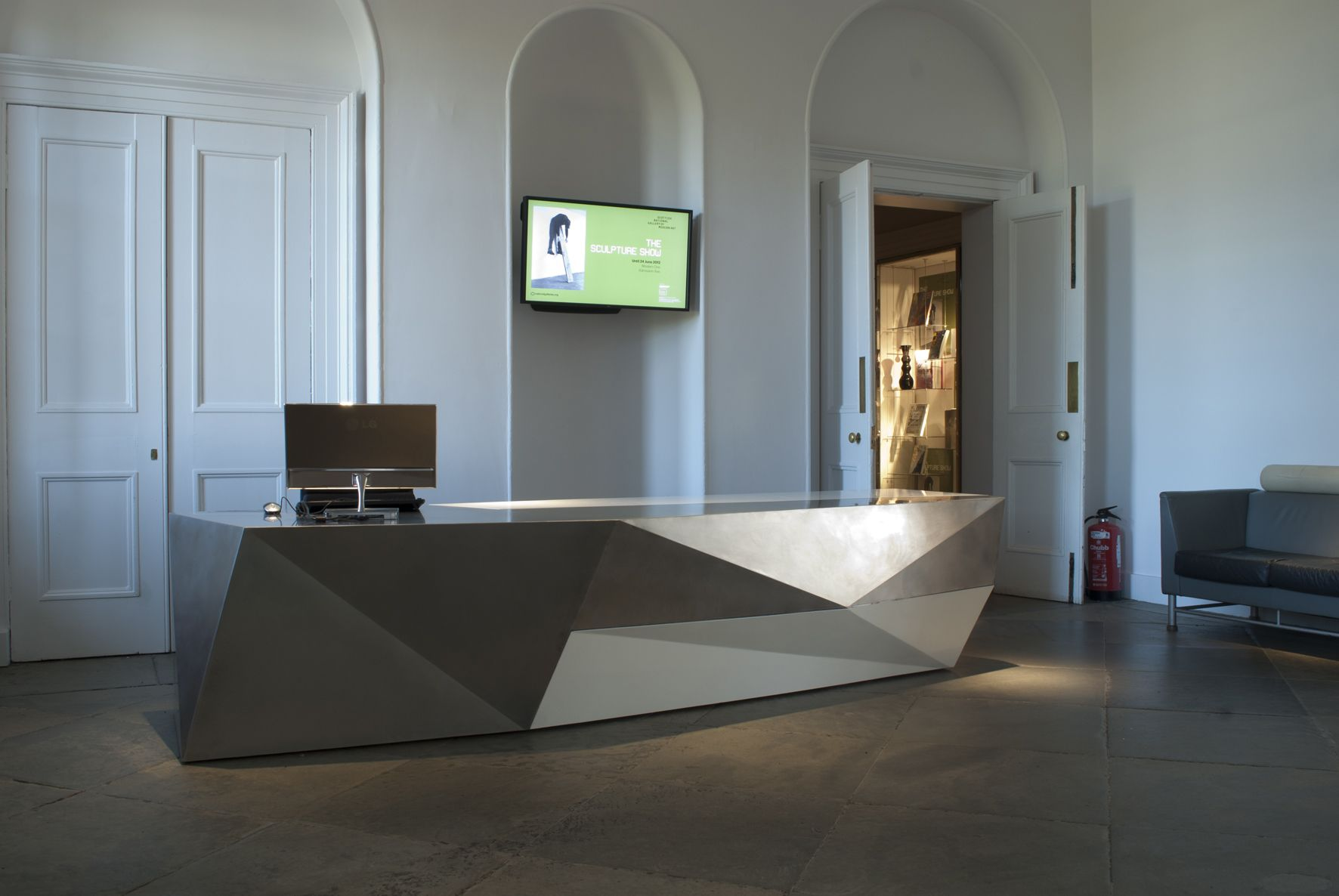 Pin by Eric Wood on Modern Reception Desk in 2019  Modern
