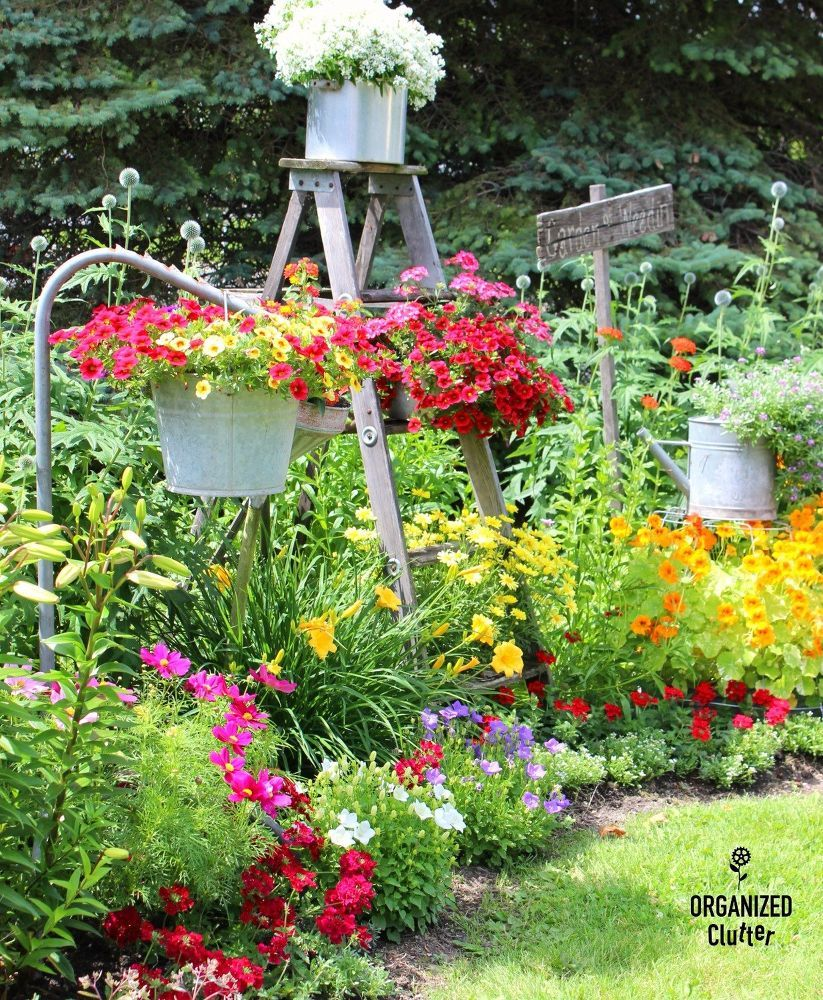 Homeowner arranges junk in her yard—look at her almost whimsical ...