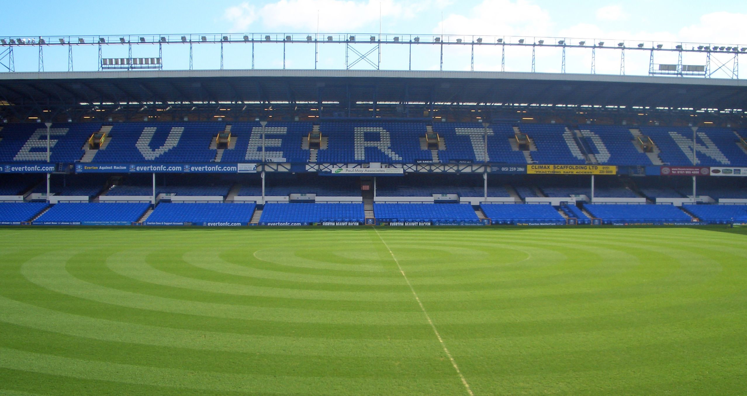 View From The Main Stand Towards Bullens Road Goodison Park Home Of Everton