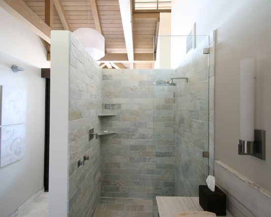 Open Shower Small Bathroom   Google Search