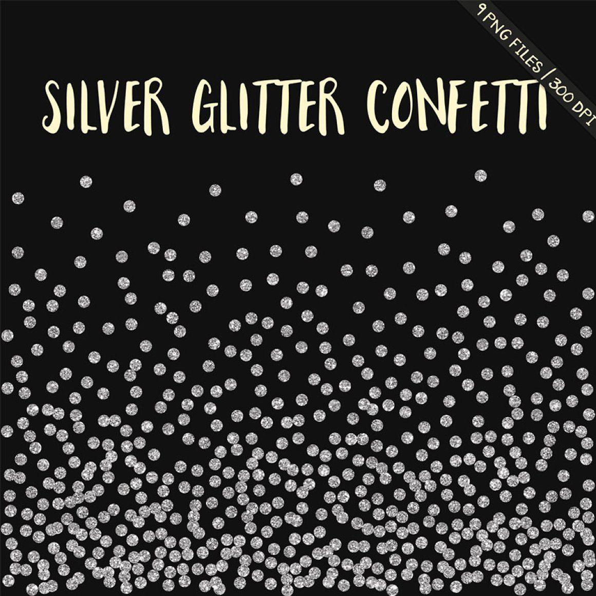 Silver Glitter Confetti Clipart Confetti Borders Confetti Clipart Confetti Clip Art Glitter Confetti Borders Glit Glitter Confetti Clip Art Scrapbook Materials
