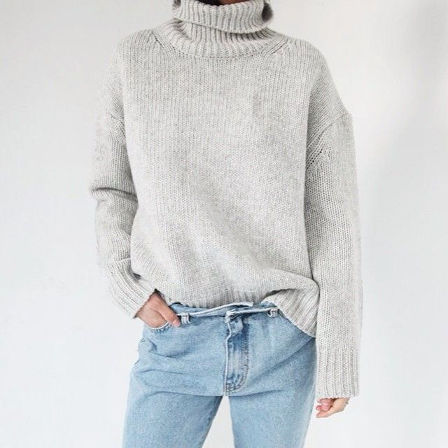 """Chunky grey turtleneck is high on my wishlist via tumblr #inspiration #fashion #style #fashionblog #fashionblogger #fashionblogger_de #blog #blogger…"""