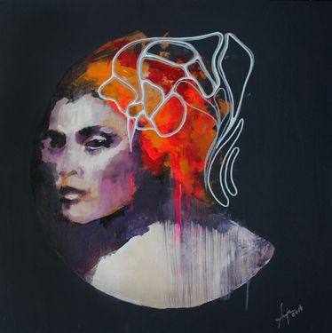 """My works @Saatchi Art Artist #unamorte ; Painting, """"Ataxia I"""" #art"""