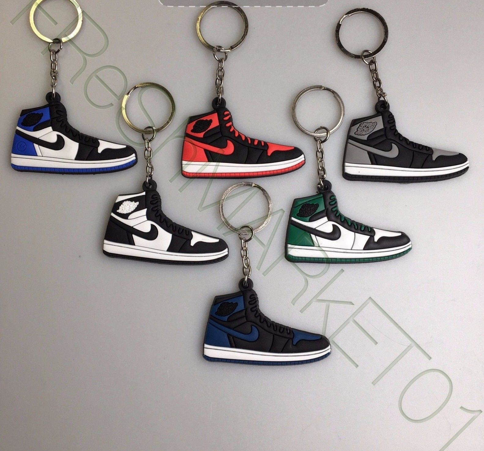 ... the best cfd41 adbae 3.5 - Sneaker Keychain Jordan Supreme Boost V2  Cement Pirate Black Moonrock ... 36a849632