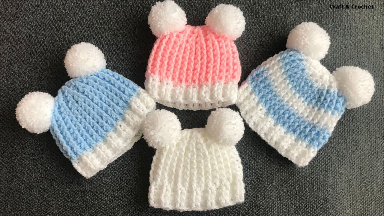 This 20 Minute Crochet Baby Hat Is Soft And Comfortable And Really Easy To Make Even For Crochet Baby Hat Patterns Fast Crochet Crochet Baby Hats Free Pattern