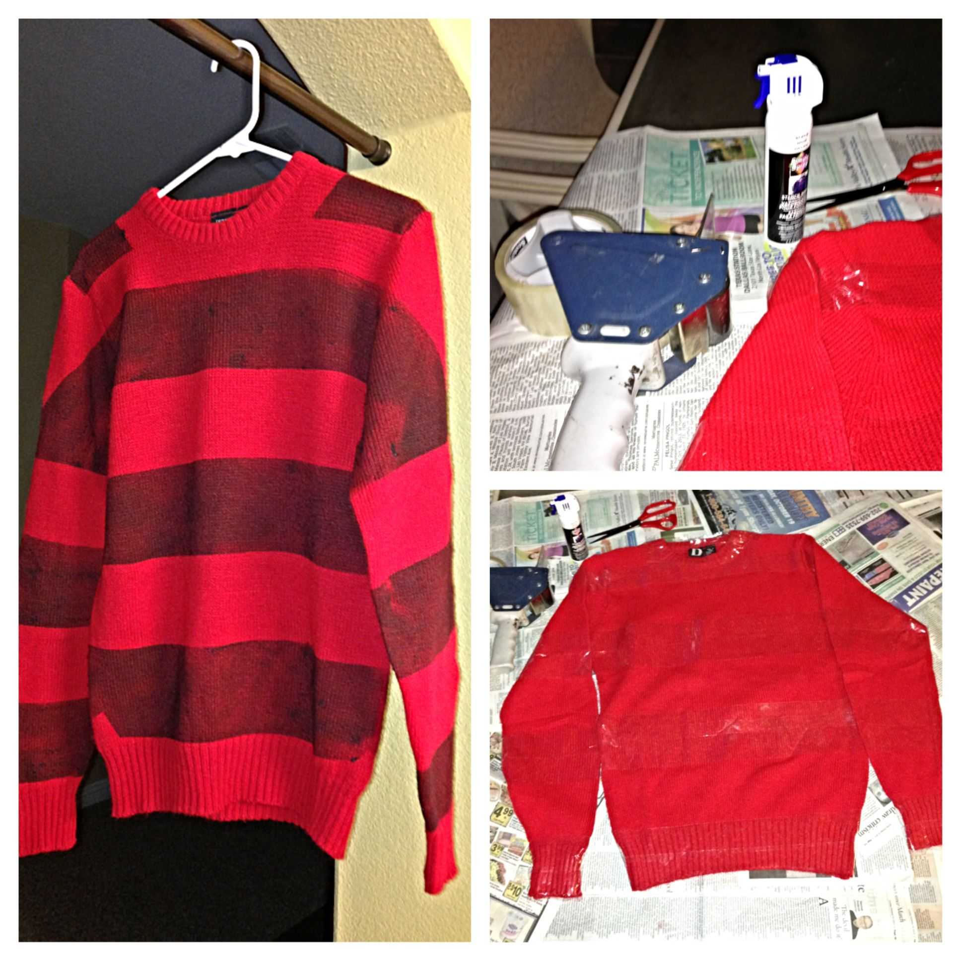 diy freddy krueger sweater - Freddy Krueger Halloween Decorations