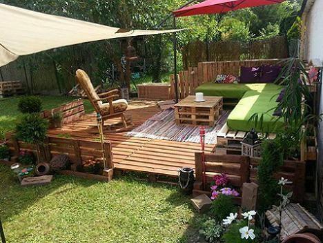 gartenmöbel aus paletten für elegante gartengestaltung | möbel ... - Gartengestaltung Mit Holzterrasse