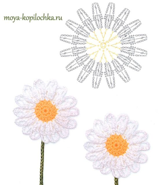 Ergahandmade 100 Crochet Flowers Diagrams Part 2 Crochet