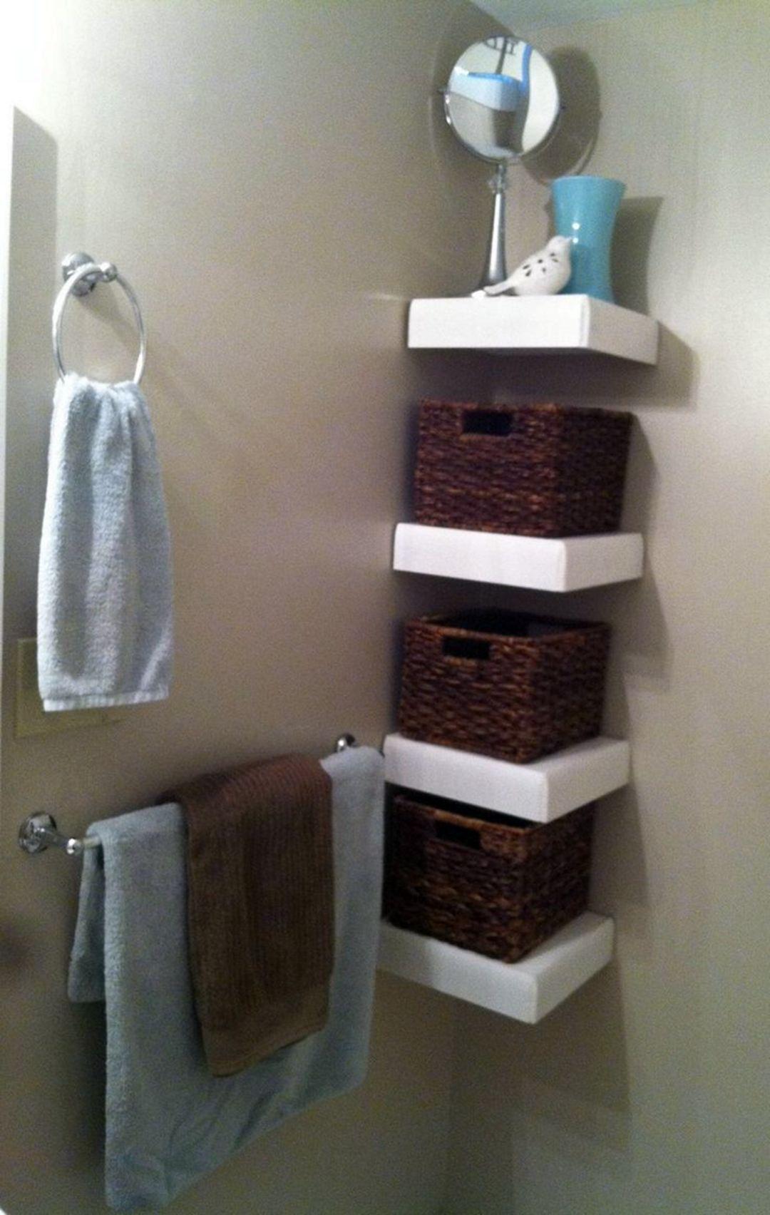 diy corner shelf bathroom
