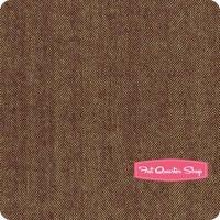 Cottonworks Woven Brown Herringbone Yardage <br/>SKU