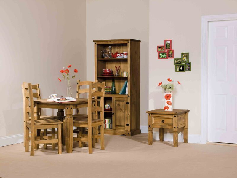 Table and 4 Chairs Dining Room Kitchen Table Premium Corona Mexican Solid Pine