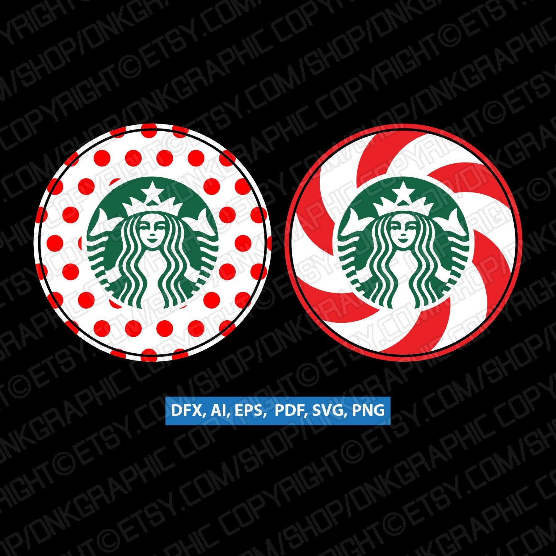 Polkadot Candy Cane Starbucks Cup SVG Tumbler Mug Cold Cup