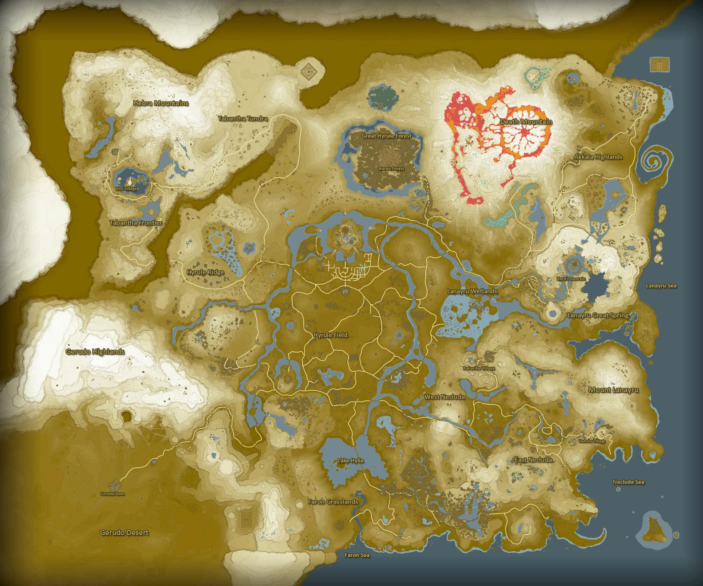 The Legend Of Zelda Breath Of The Wild Full Map Zelda Campaign