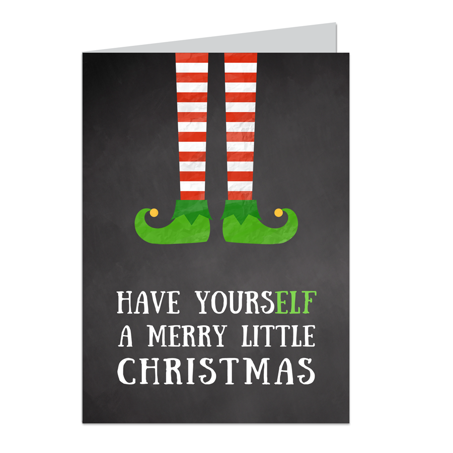 Chalkboard Have Yourself Christmas Greeting Card Variety Pack 24