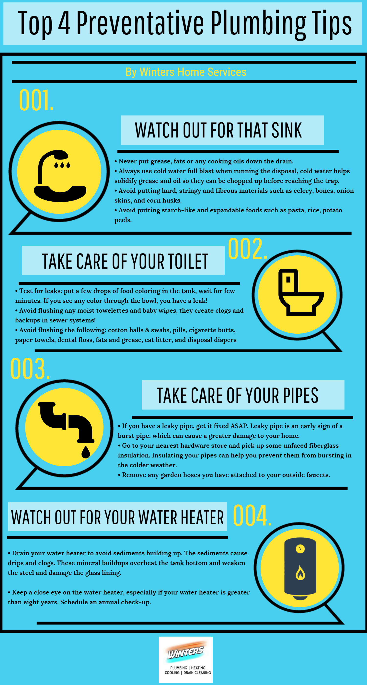 top 4 preventative plumbing tips for this holiday